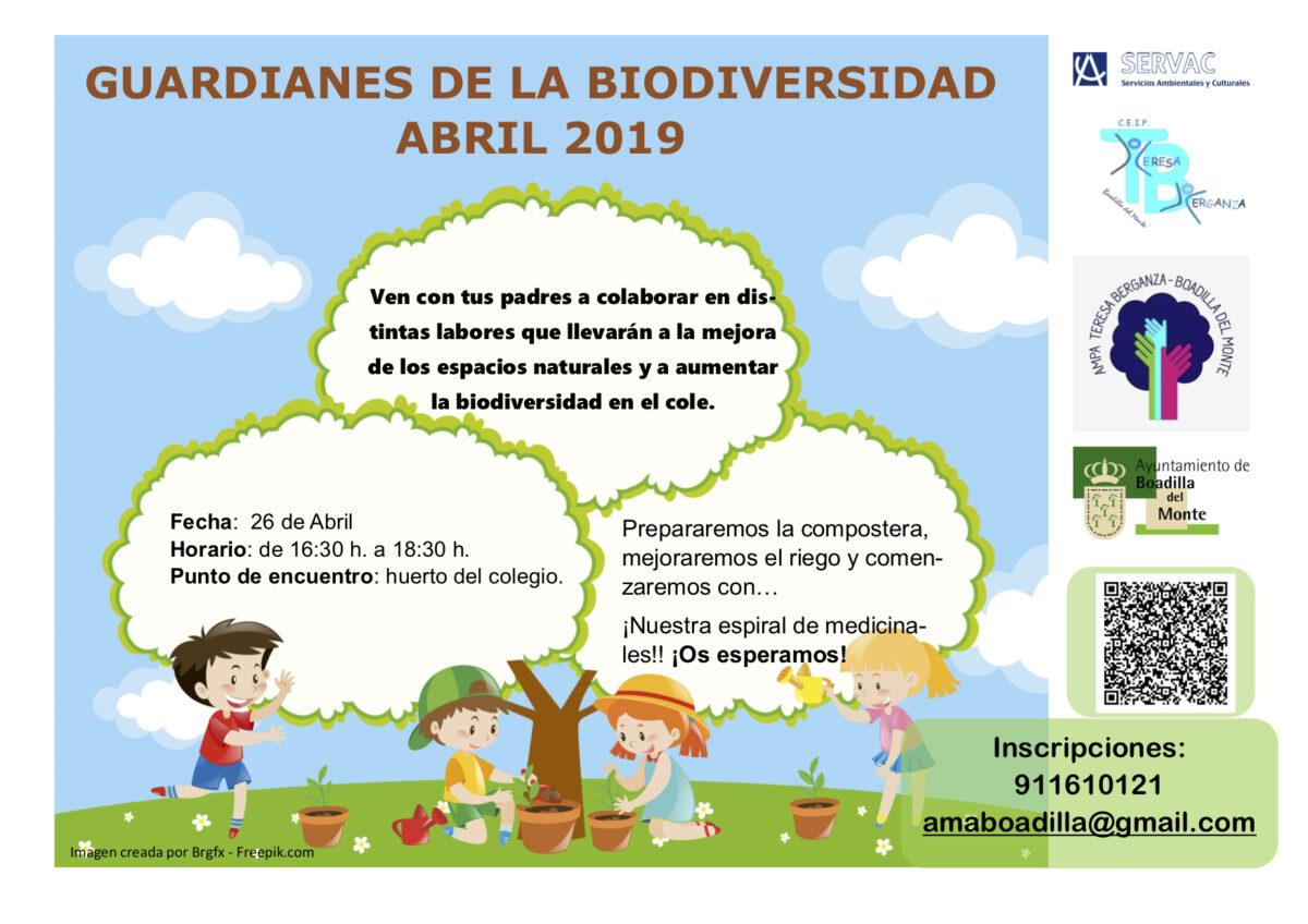 8416501c2b Guardianes de la Biodiversidad – Abril 2019 – AMPA Teresa Berganza